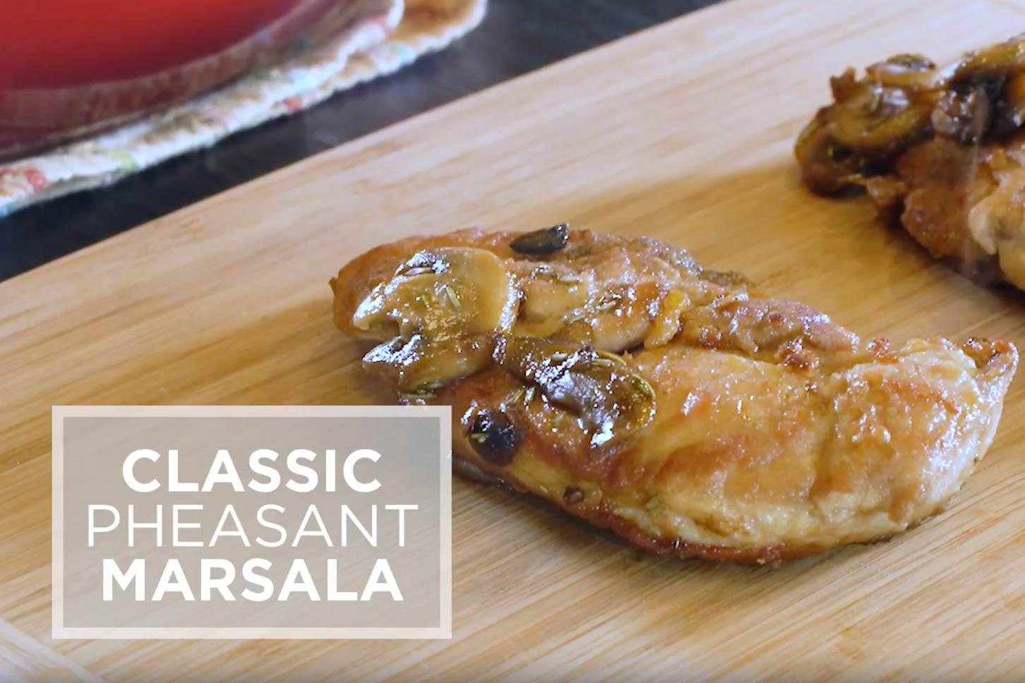 Pheasant marsala video